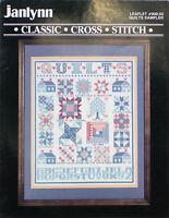 Janlynn Cross Stitch Pattern Quilts Sampler 80s Vintage 1987 #900-03