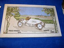 Michelin bibendum carrera parís madrid 1903 placa de cerámica publicidad dorada 40x25