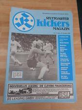 Stadionzeitung Stuttgarter Kickers vom 16.11.1988 gegen Werder Bremen