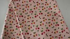 wasserfest 50 x 140 Kirsche auf mint Beschichtet Baumwolle abwaschbar