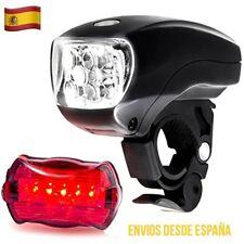 Juego De Luces LED Para Bicicleta Delantera y Trasera