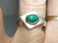 Eagle #2 Mark Turquoise Ring! Vintage Signed Mexico Sterling Silver