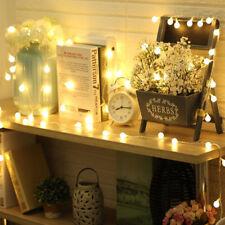 Warm White 100 Berry Festoon Balls Fairy LED Lights Window Curtain Gazebo Decor