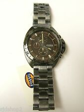 (M) FOSSIL BREAKER SMOKE BROWN DIAL CHRONOGRAPH WATCH 10 ATM CH3002  NWT & TIN