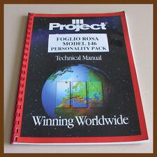 Technical Manual PROJET FOGLIO ROSA Model 146 per Arcade Videogiochi Jamma