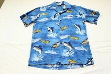 VTG Pacific Legend Fish Cotton Hawaiian Shirt Sword Fish