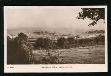 Wales Carmarthenshire CARMARTHEN General view RP PPC Used 1912 by Kingsway