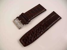 LEATHER CUFF WATCH BAND STRAP 28mm WIDE BROWN CROC NEW