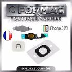BOUTON HOME COMPLET AVEC NAPPE + MENBRANE ET SOCLE METAL iPHONE 5c BLANC