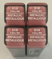 (4) Covergirl Exhibitionist Metallic Lipstick, 510 Call Me