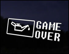 No Oil Game Over Car Decal Sticker JDM Vehicle Bike Bumper Graphic Funny