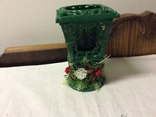 Vintage Christmas Lamplighter Candleholder With Candle 5&1/2� X 3&3/8�