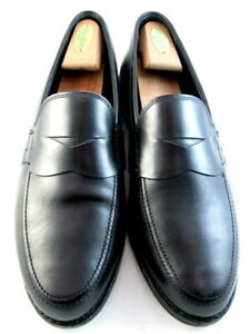 "Allen Edmonds ""WOOSTER STREET"" Penny Loafers 10.5 D Black Made in USA(518)"
