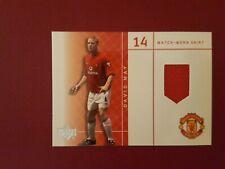 DAVID MAY  Upper Deck Manchester United MATCH WORN SHIRT trading card