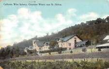 St Helena California Greystone Winery Street View Antique Postcard K86014