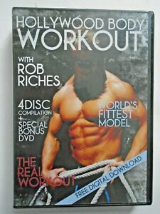 Hollywood Body Workout Rob Riches - LA Muscle 5 Disc DVD Set - FITNESS WORKOUT