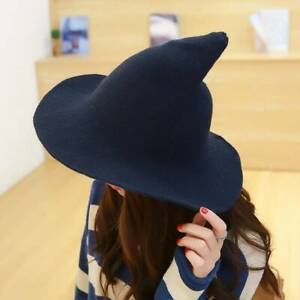 1PC Modern Witch Hat Made From High Quality Sheep Wool Halloween Party Witch Hat