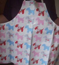 PVC Scottie Dog Floral Pastel Coloured Apron