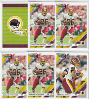 LOT (6) 2019 DONRUSS FOOTBALL DERRIUS GUICE ADRIAN PETERSON REDSKINS  - C1800