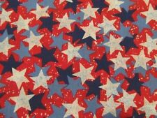 "2 Yards 22"" Patriotic Stars Fabric Traditions 1998 Blue Red Navy"
