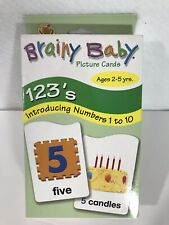 Brainy Baby Photo Picture Cards Numbers Large Print Autism Speech Therapy Math