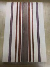 "#15 13/16"" Cutting Board Kit Lumber Maple + Exotic Wood - Free Shipping!"