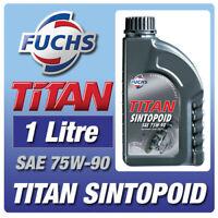 FUCHS TITAN SINTOPOID SAE 75W-90 (1 litre) GEARBOX OIL CAR SYNTHETIC AXLE FLUID