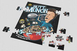 Heart 201/500/1000 Pieces Jigsaw Puzzles Beavis And Butthead Butt Munch Cereal