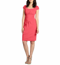 Elie Tahari Women's Gia Bright Pink Dress Sheath Knee Length Wear to Work 8
