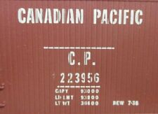 HO Scale TMI # 2270 40' Canadian Pacific Dbl. Sheathed Re-Built Wood Box Car