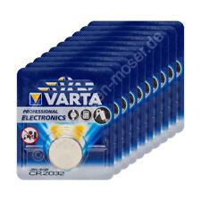 10x Original Varta CR2032 Blister Lithium Knopfzelle Batterie 3V / 230mAh, 10 Bl