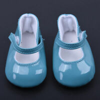 Handmade Blue Leather Boots Shoes for 18inch Doll Party Kids Toy Fast shipping