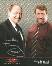Ps013 Mike Tenay & Don West signed Tna Promo w/Coa