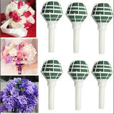 6X DIY Brautgriff Hochzeit Dekorieren Blume Dekoration Bouquet Schaum Halter NG8