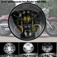 """5.75 5-3/4""""Moto 6000K LED Phare Hi/Lo Projecteur DRL Headlight Pour Harley Honda"""