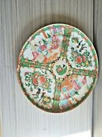 Antique Chinese Famille Rose Plate 10'' W