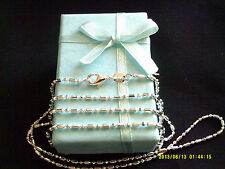 """Necklace 925 Sterling Silver """" DOT DASH """" Chain 70cm x 1.4mm Beautiful Gift NEW"""