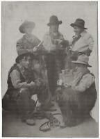 Cowboys im Fotostudio. Orig-Photo um 1910