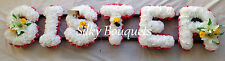 Artificial Silk Funeral Wreath Flower 6 Letter Sister Any Name Floral Tribute