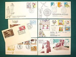 Brasile - Lotto di 7 buste (FDC + annulli speciali), 1956/86