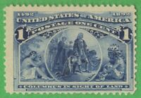Columbus in Sight of Land, US Stamp from 1893, Scott 230. Mint OG Lightly Hinged
