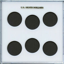 "Capital Plastic Galaxy 6.5""x 6.5"" - 6-Coin Holder U.S. Silver Dollars - White"