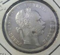 Austria 1880 Florin Silver XF - UNC .900