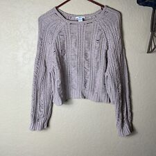 Bar lll Knitted Crop Sweater Size L Distressed