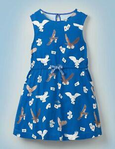 NWT Mini Boden Harry Potter Owl Post Jersey Sleeveless Dress 6-7 YEARS