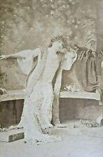 SARAH BERNHARDT Vintage Orig CABINET Photo W. & D. DOWNEY RARE 1880s BOUDOIR