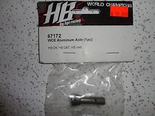 PARTS NEW Hot Bodies (HB), 67172 WCE Aluminum axle (1pc) D8 8T Ve8
