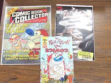 Ren & Stimpy Lot Marvel Comic #8, Wizard Mini Comic #1, Comic Book Collector #6