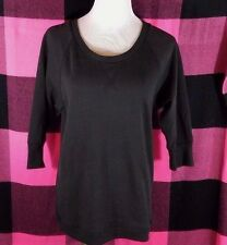 Victoria's Secret Supermodel Essentials Black 3/4 Sleeves Tunic Sweatshirt Small