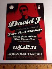 David J Love Rockets Concert Show Flyer Handbill Card Sebastopol 2011 Bauhaus